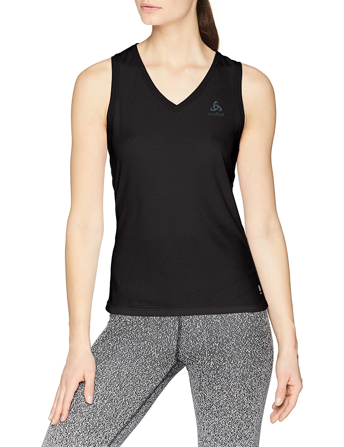Bl Top V-Neck Singlet Active F-Dry Light Odlo Canottiera Donna
