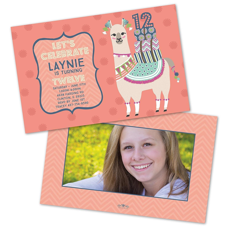 Amazon Llama Personalized Childrens Birthday Invitations Set Of 10 Kitchen Dining