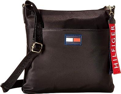 22abb7d8fe45 Tommy Hilfiger Women s Leah North South Crossbody Black One Size  Handbags   Amazon.com