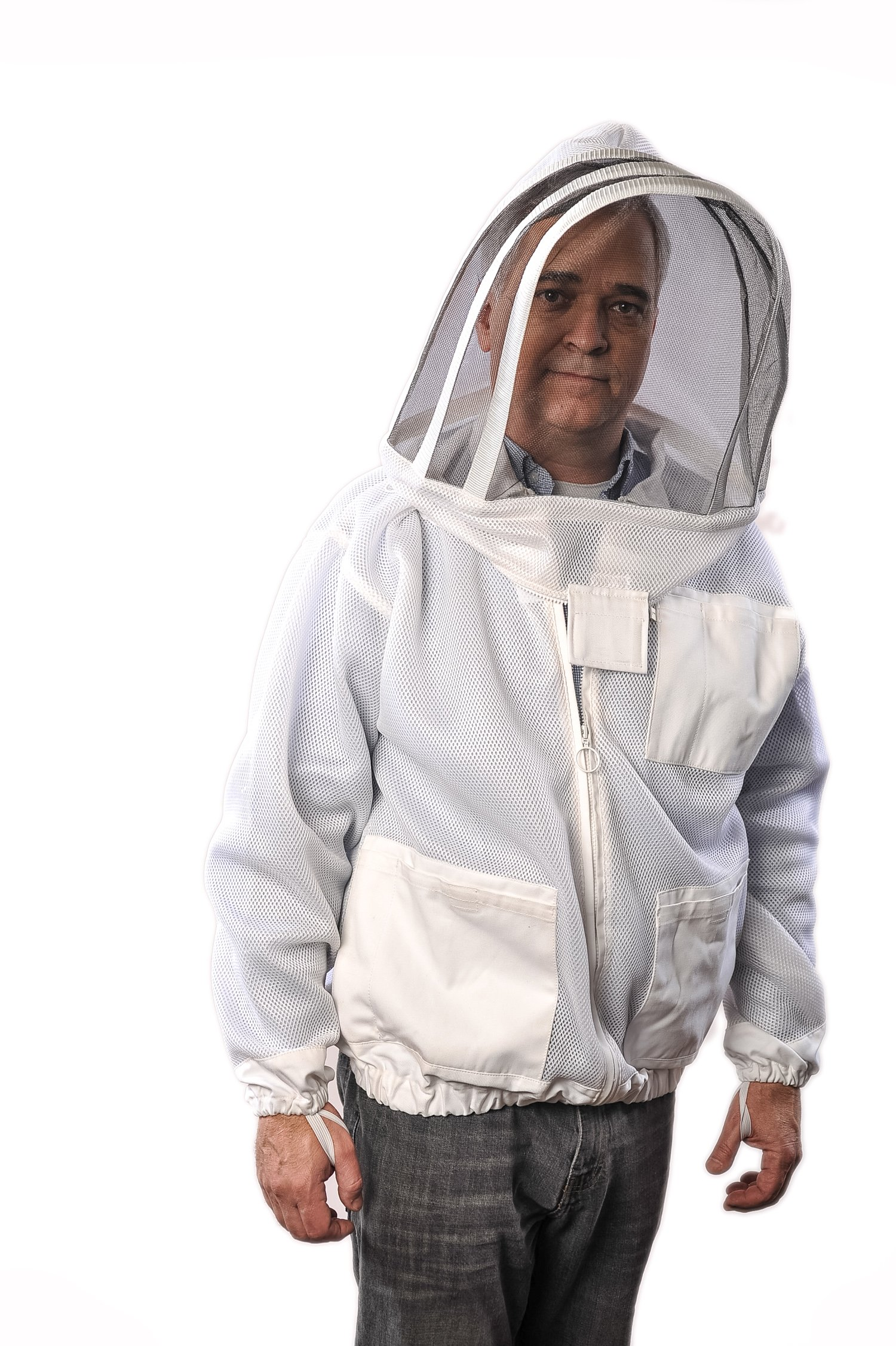 FOREST BEEKEEPING Ventilated Jacket - Clear View Fencing Veil YKK Brass zippers Ultra Light Weight & Maximum Protection Professional & Beginner Beekeepers (XS) by FOREST BEEKEEPING SUPPLY