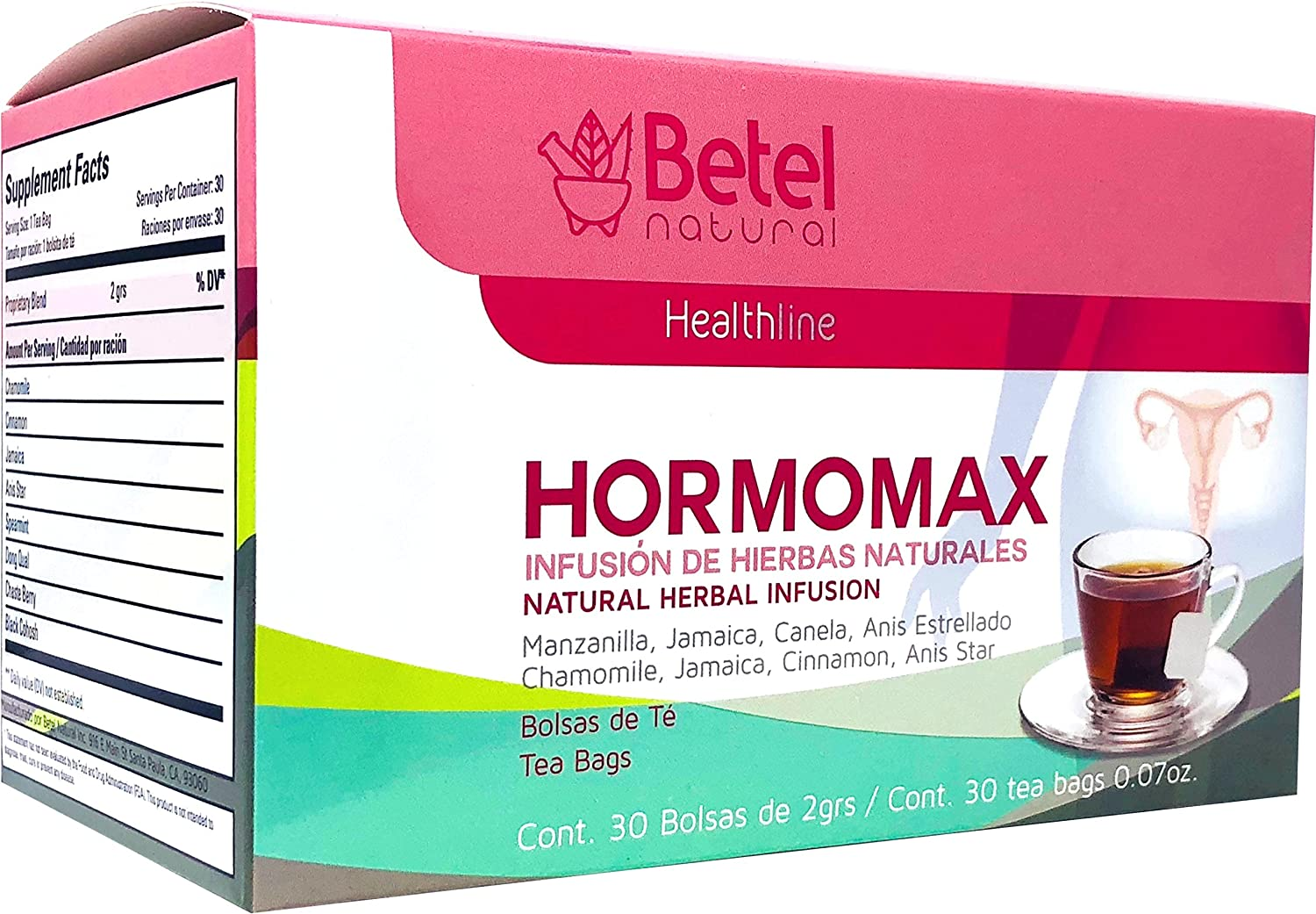 Amazon.com: Hormomax Tea by Betel - All Natural Healthy ...