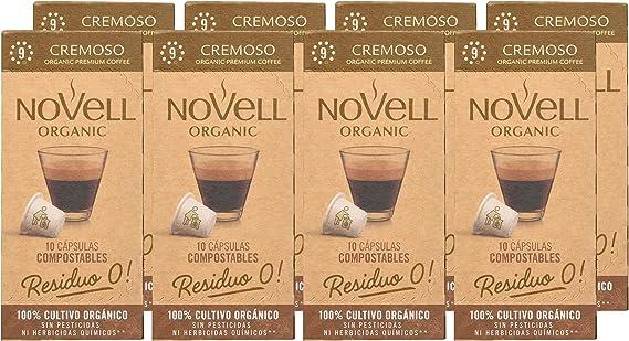 Cápsulas Compostables con café Ecológico, Cremoso, 8 cajas con 10 ...