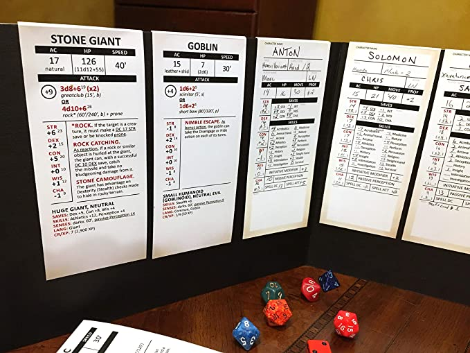 photograph about Printable Dm Screen 5e called In depth Stat Trackers Mounted -- The Best Method for DMs of 5th Version
