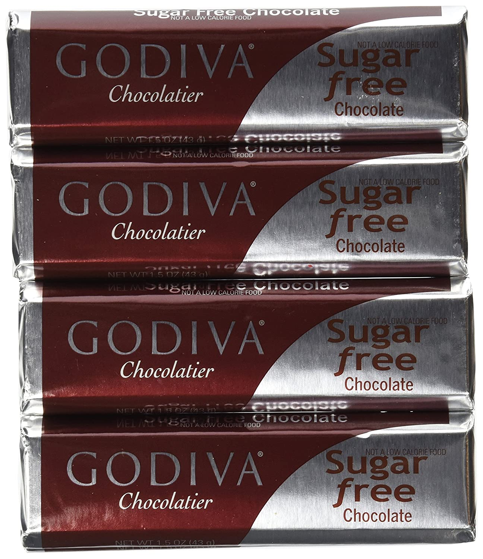 Amazon.com : Godiva Sugar Free Milk Chocolate Bar, 1.5-Ounces ...