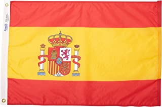 product image for Annin Flagmakers Model 197816 Spain Flag Nylon SolarGuard NYL-Glo, 2x3 ft, 100% Made in USA to Official United Nations Design Specifications
