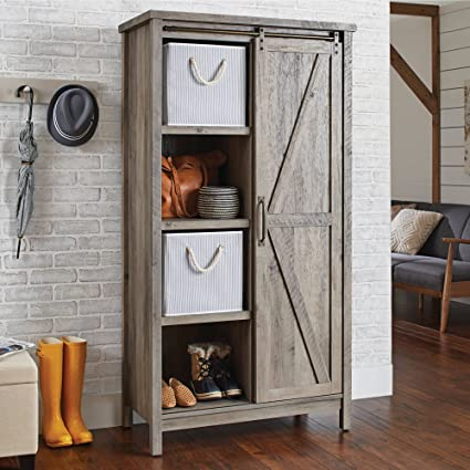 Amazoncom Better Homes And Gardens Storage Cabinet Rustic Gray