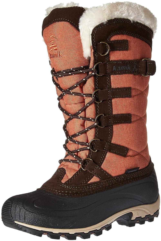 Kamik Women's Snowvalley Snow Boot B01MU5T8F2 6 D US Orange/Brown