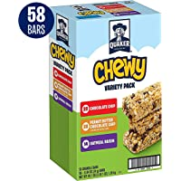 58-Count Quaker Chewy Granola Bars 3 Flavor Variety Pack 49.1 Oz
