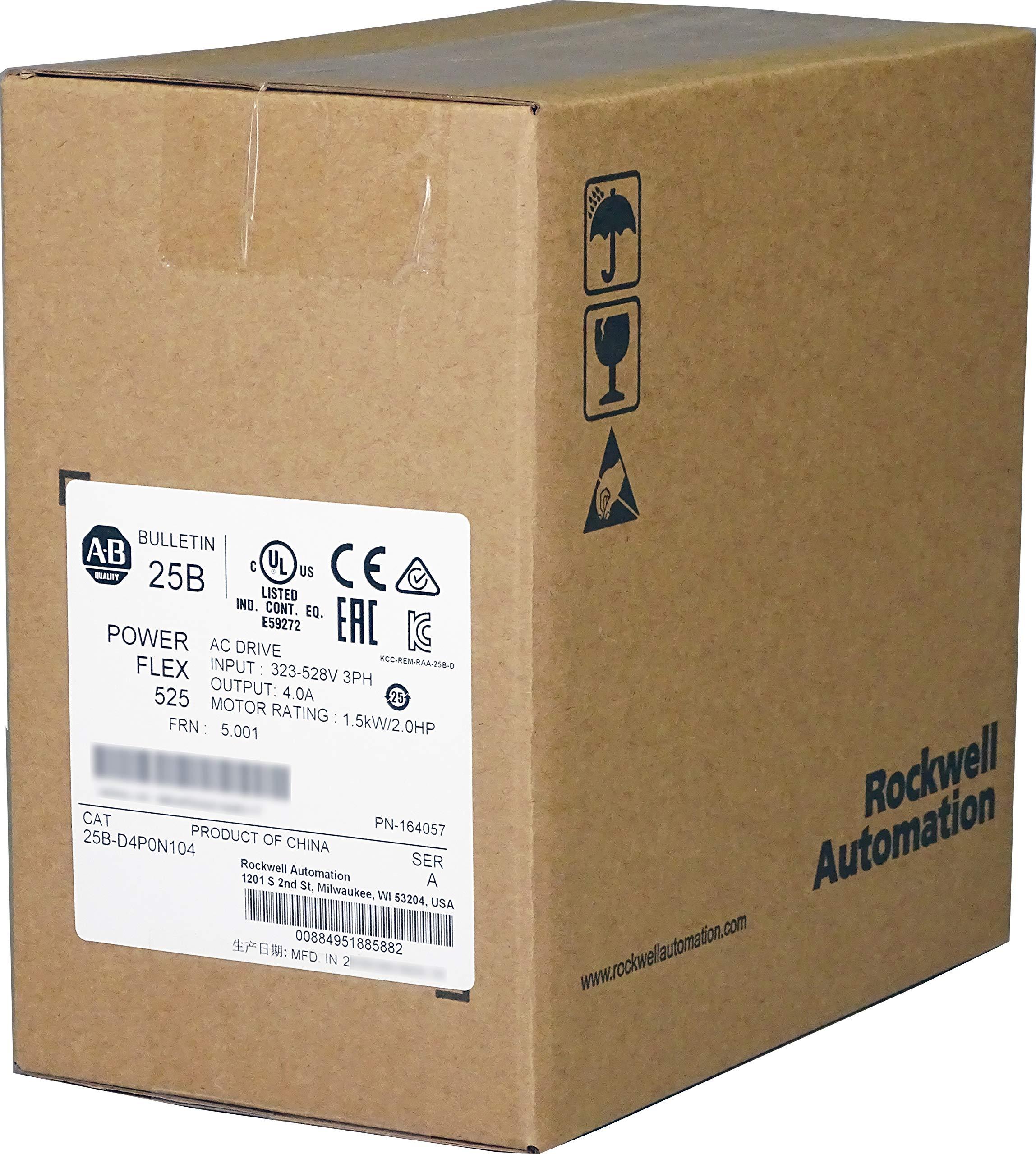 Allen Bradley 25B-D4P0N104 PowerFlex 525 AC Drive, Variable, 480VAC, 2.0HP / 1.5kW, 4.0 Amp, Normal & Heavy Duty Supplied by Industrial Spares by INDUSTRIAL SPARES