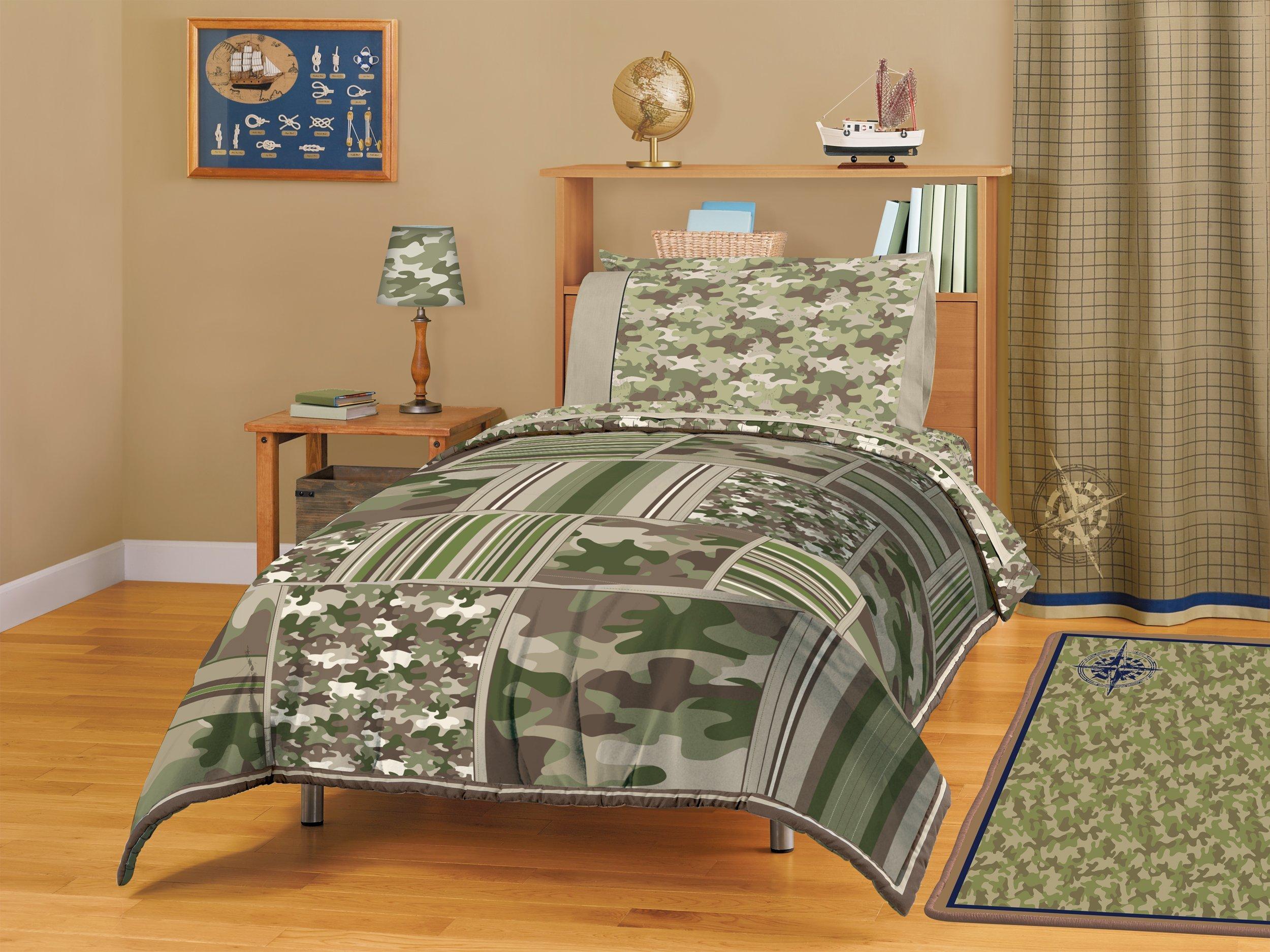 American Kids Camo Block Comforter Set, Full