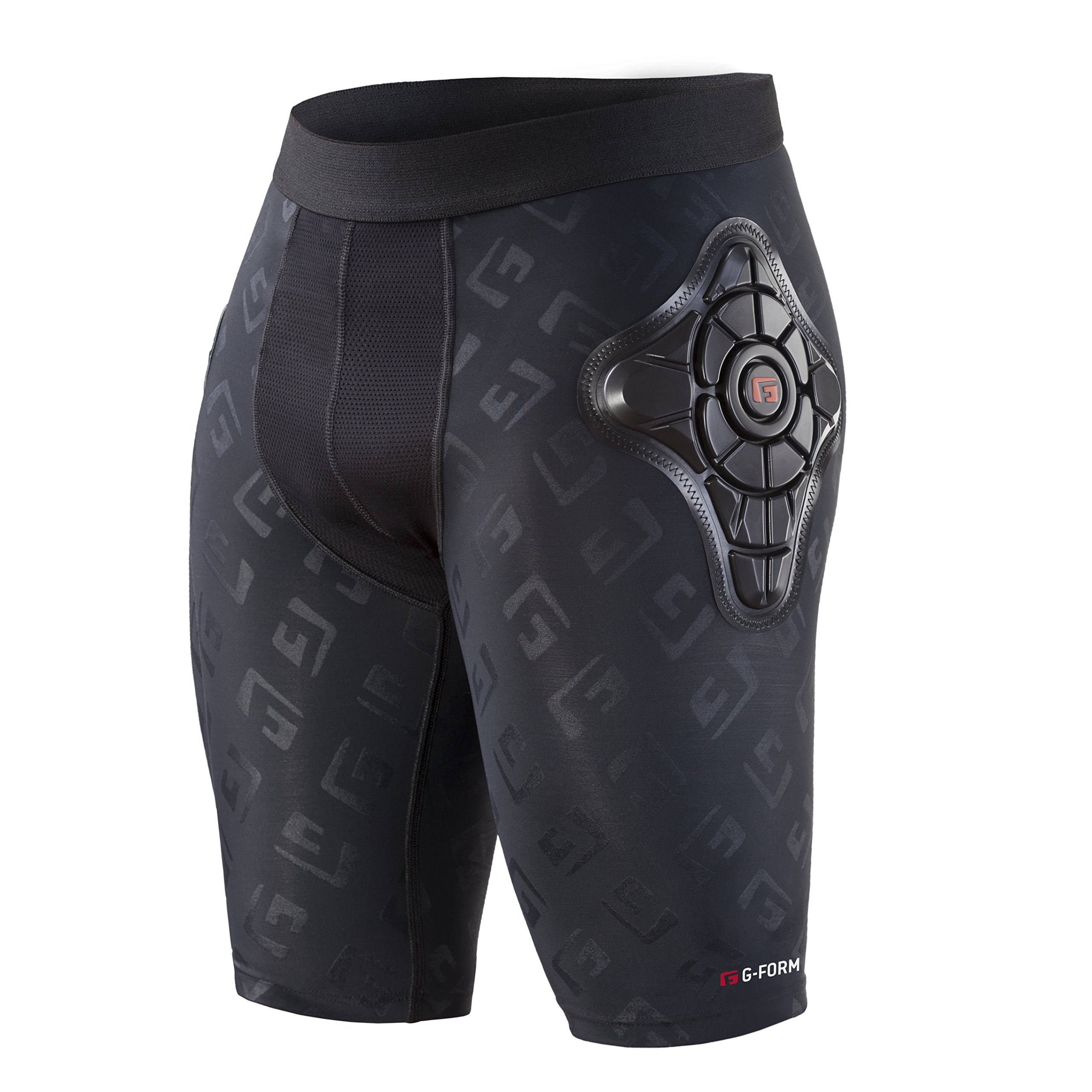G-Form Pro-X Padded Compression Shorts, Black Logo, Adult Small