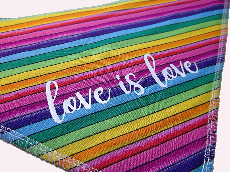 S3 Pride - Love Is Love - Slogan Rainbow LGBT Dog Bandana Labrador, Springers /& Medium Dogs Spoilt Rotten Pets
