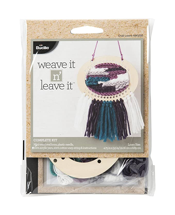 Amazon Bucilla 49025e Oval Mini Loom Weave It N Leave It Kit