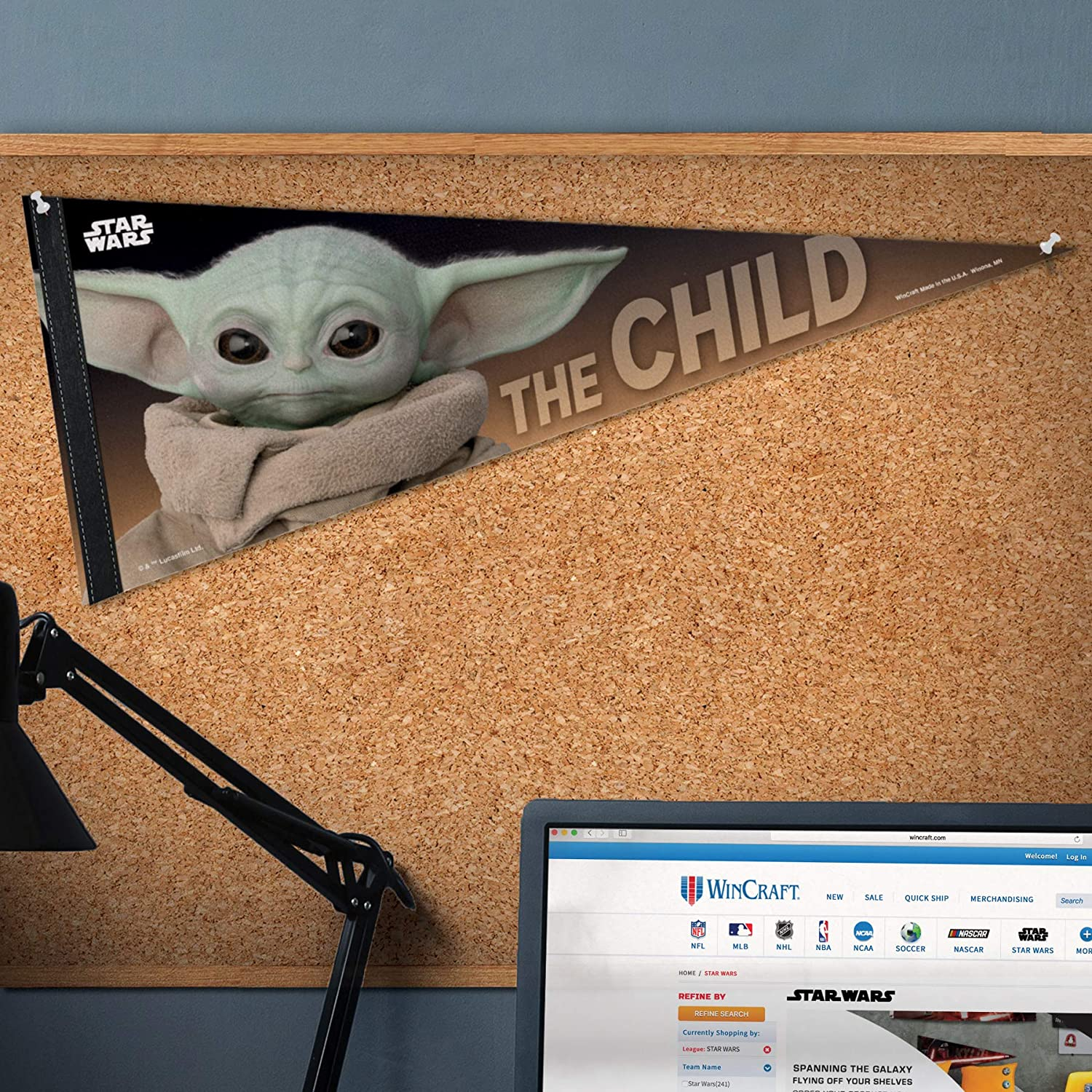 Mandalorian The Mandalorian A Star Wars Story The Child Premium Pennant 12 x 30 One Size Multicolor