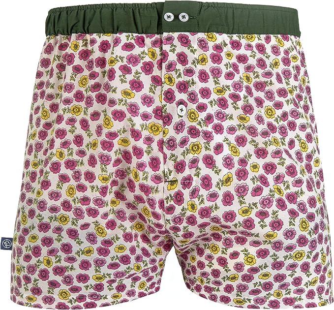 Les Gus - Calzoncillos para hombre, algodón, diseño de flores ...