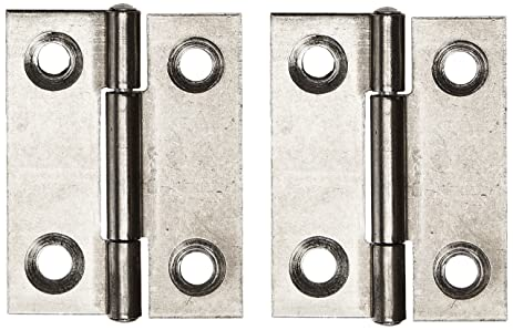 2 Pcs Cabinet Drawer Door Stainless Steel Butt Hinges 1.5u0026quot; ...
