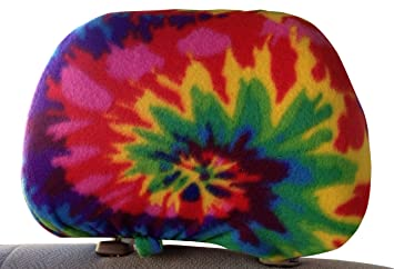 Hayes Designs 2 Tie Dye Car Seat Headrest Covers