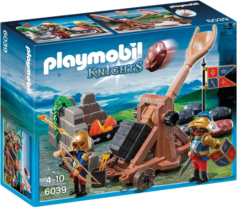 Playmobil - Catapulta de los Caballeros del León (6039): Amazon.es: Juguetes y juegos