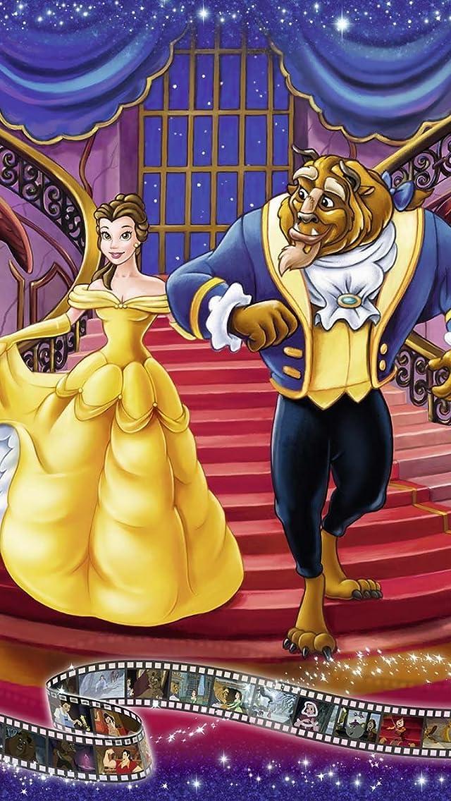 ディズニー Beauty & The Beast iPhoneSE/5s/5c/5(640×1136)壁紙画像