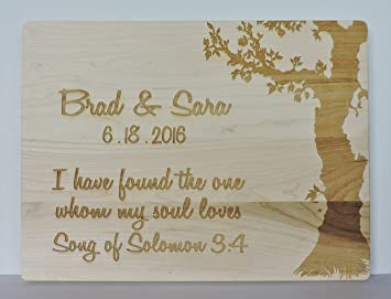 Cutting Board With Song Of Solomon 34 Quote Wedding Or Anniversary Gift