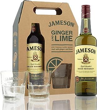 Jameson Irish Whisky with 2 Glasses - 1 Pack: Amazon.es: Salud y ...