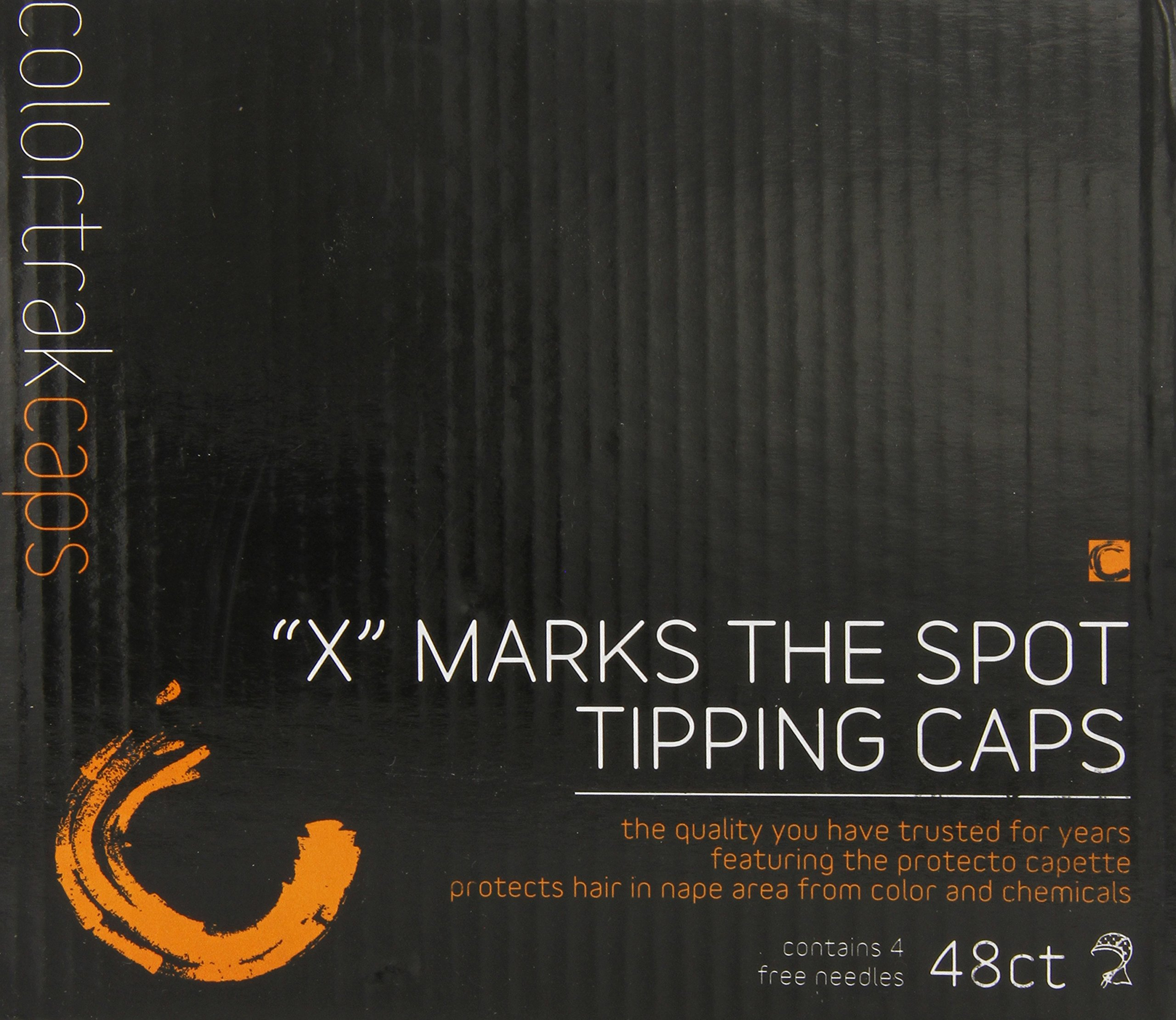 Colortrak X Marks the Spot Disposable Tipping Caps with Neck Protector (48Count + 4 Highlighting Needles) by Colortrak (Image #2)