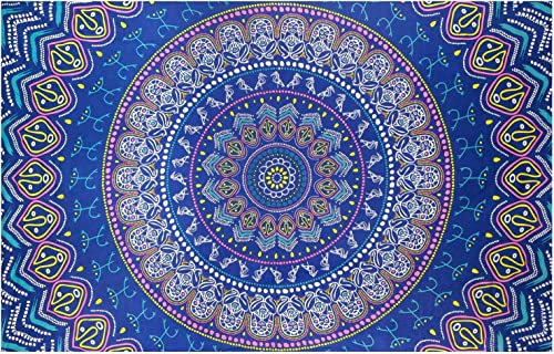 Sunshine Joy Taino Mandala Tapestry Tablecloth Wall Art Huge 60×90 Inches