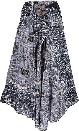 GURU-SHOP Boho - Falda de Verano Maxirock Hippie Chic, para Mujer ...