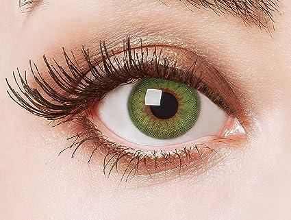 6a5220eb17 Lentes de contacto coloreadas Green Fire de Aricona - que cubren las lentes  años para los ojos oscuros ...