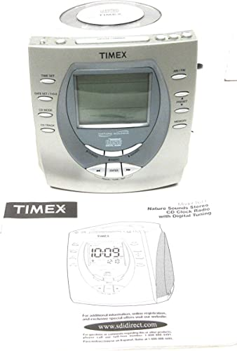 Timex CD Player Alarm Clock Nature Sounds