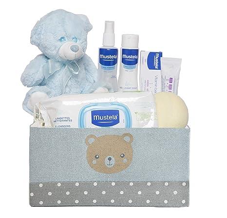 Cesta Bebe Mustela.Canastilla Bebe Junior Azul Regalos Para Recien Nacidos Bebe