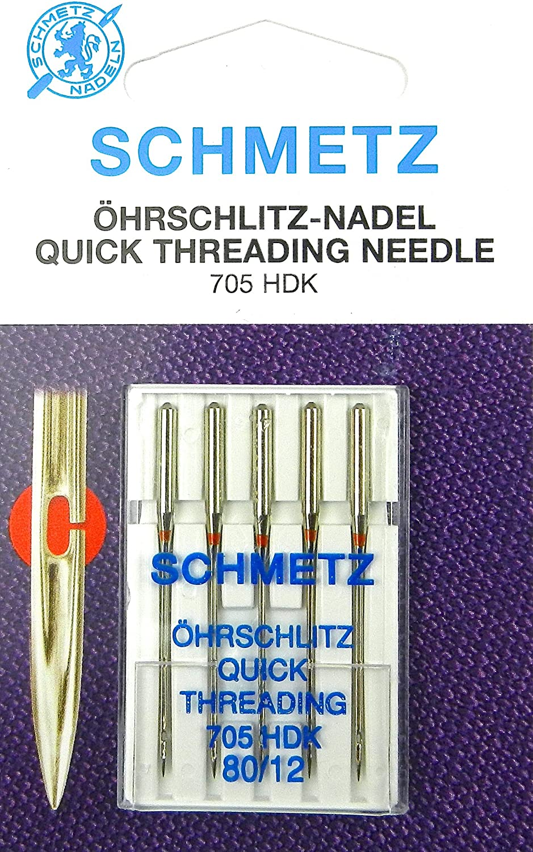 Schmetz 705 HDK - Agujas para máquina de coser (5 unidades, grosor ...
