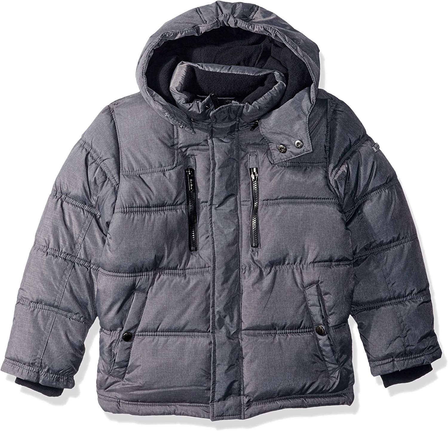 English Laundry Boys' Bubble Jacket with Sherpa Trim