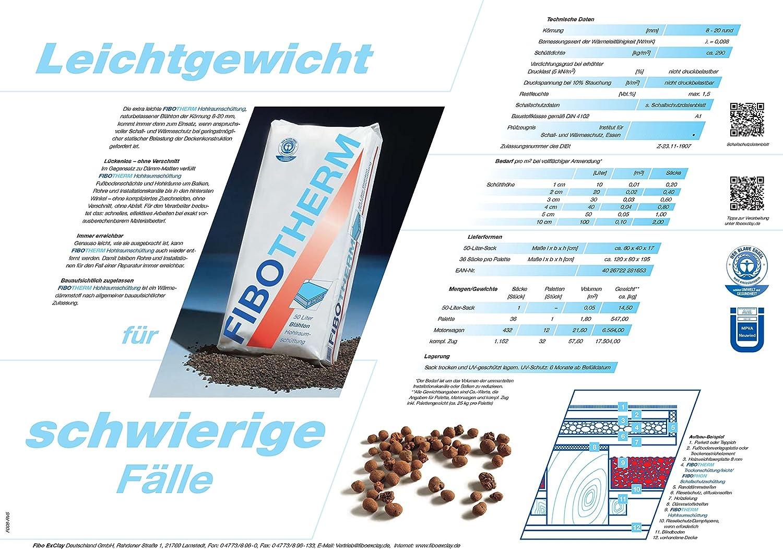 FIBOTHERM Hohlraumsch/üttung 1 Palette /à 36 S/äcke