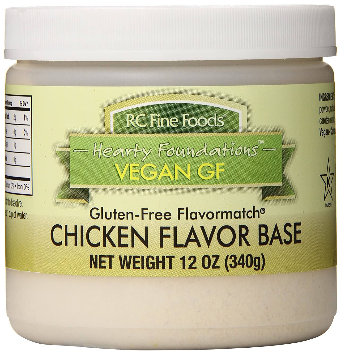 RC Fine Foods Healthy Foundations Vegan Gluten-Free Base, Chicken, 12 Ounce