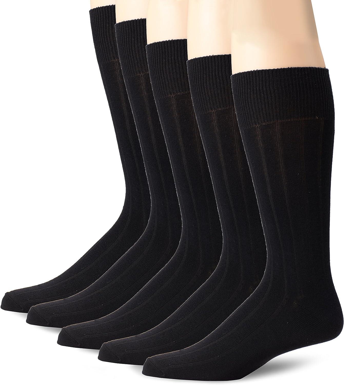 Dockers Mens 5 Pack Classics Dress Argyle Crew Socks