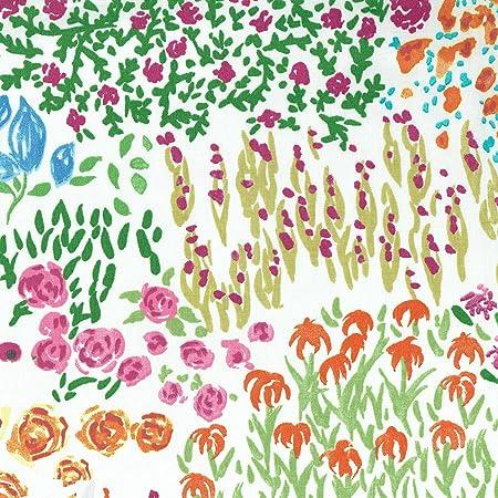 Tela de algodón estampada - Explosión floral - tela floral - rosa ...