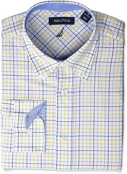 Nautica Men S Classic Fit Button Down Collar Dress Shirt