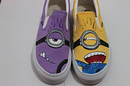 f5eb5941fb Amazon.com  Minion Vans Women Men s Despicable Me Sneakers Hand ...