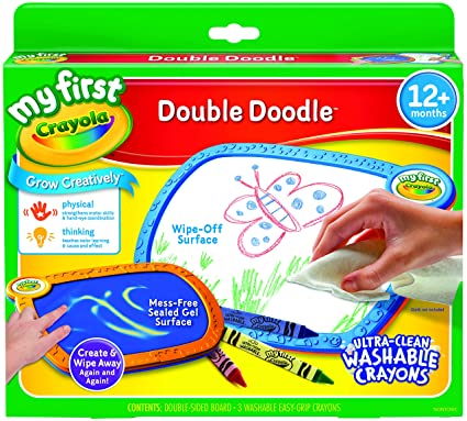 Amazon.com: Crayola Mess Free Coloring Board, My First Double Doodle ...