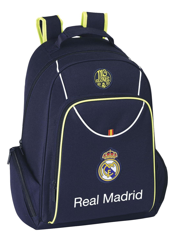 Safta - Real Madrid 2ª equipación mochila multibolsillos adaptable, 31 x 43 cm (611357450): Amazon.es: Equipaje
