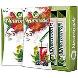 Neuronade - Getränk mit Ginkgo Biloba, Brahmi (Bacopa), Rosenwurz (Rhodiola), Grüntee, Heidelbeeren, Biotin & Vitamin B12 | koffeinfrei & vegan – 12er Pack