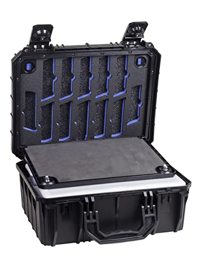Seahorse Protective Equipment Cases SE630 Locking Six Gun System (A) Cases, Black,