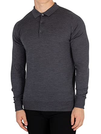 Homme Small Cotswold Longsleeved Smedley Polo John Gris p5xfPAHqw