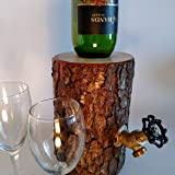 Wine Dispenser, The Original Log Wine Dispenser - New and Improved! Patent Pending
