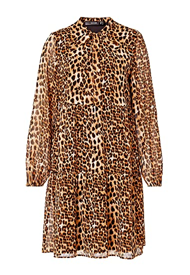 814f808367d6f9 Hallhuber Georgette Dress with Leopard Print  Amazon.co.uk  Clothing