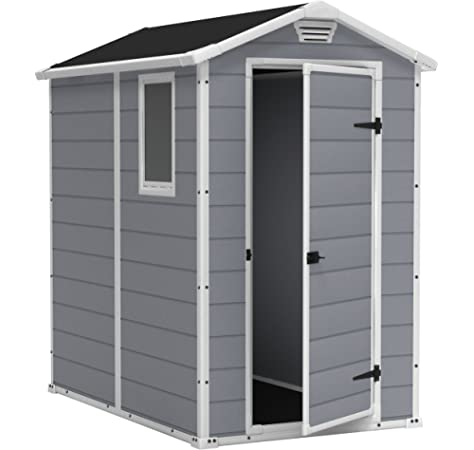 Keter Manor 4X6 S Shed- Caseta de jardín, con suelo, sistema de ...