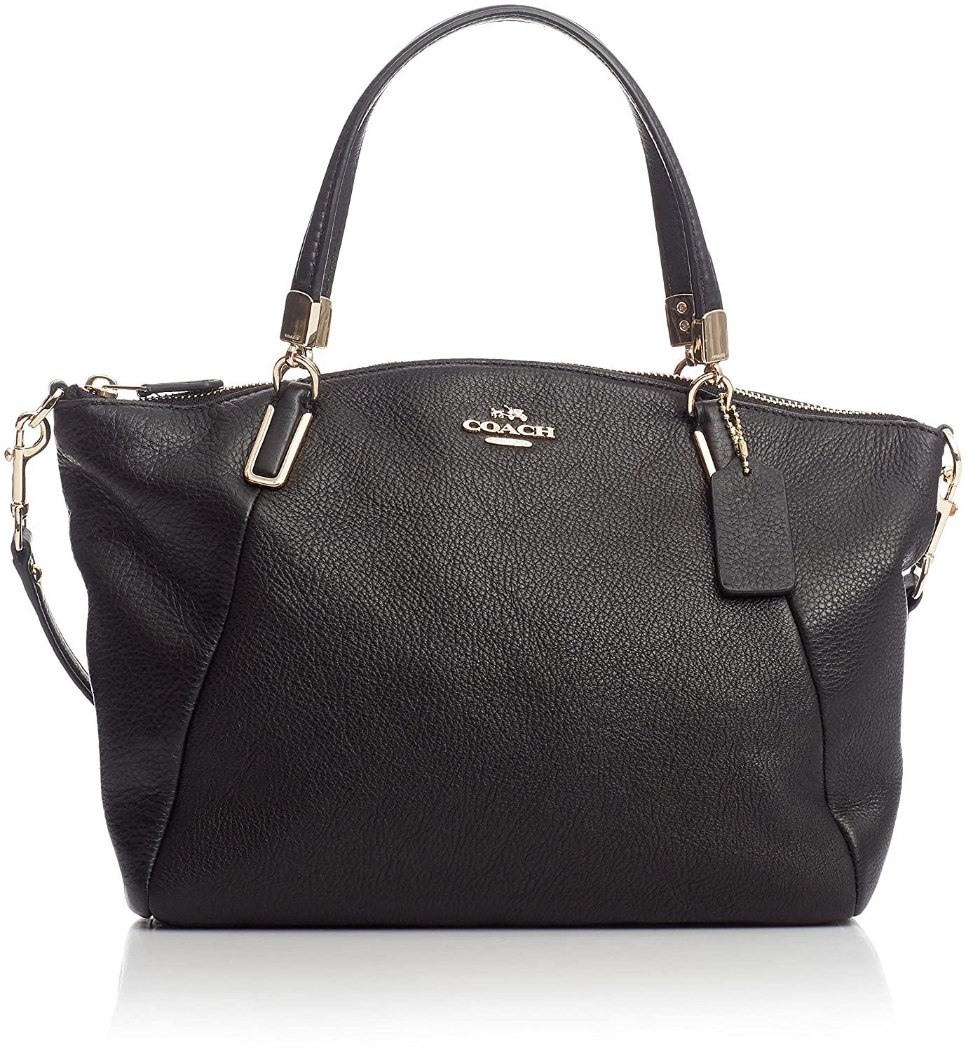 5ddc0134f6 Coach Black Pebbled Leather Small Kelsey  Handbags  Amazon.com