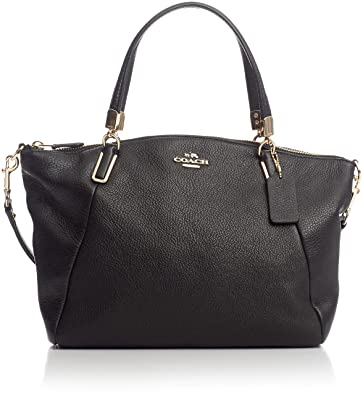 f4fa027cee7 Image Unavailable. Image not available for. Color  Coach Black Pebbled Leather  Small Kelsey