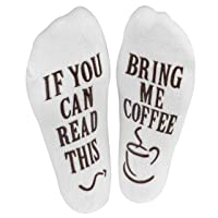 "Haute Soiree - Women's Novelty Socks - ""If You Can Read This, Bring Me Some"" (Wine..."
